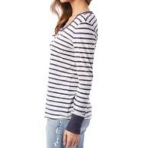Alternative Apparel Tops - Alternative | NWT Eco long sleeve stripe tee shirt